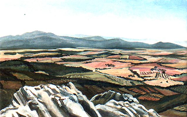 <b>Monte Leoni</b><br>Gouache/Karton | 1990 | 16,1 x 25,4 cm<br><small>(Privatbesitz)