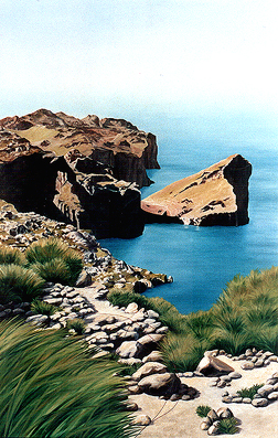 <b>Morro de Sa Vaca</b><br>Öl/Leinwand | 2001 | 140 x 90 cm<br><small>(Privatbesitz)