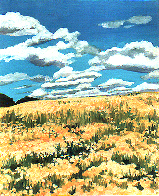 <b>Kamille</b><br>Gouache/Papier | 1996 | 25,0 x 20,3 cm<br><small>(Privatbesitz)