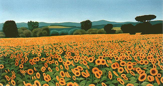 <b>Girasole I</b><br>Öl/Leinwand | 1996 | 80 x 150 cm<br><small>(Privatbesitz)