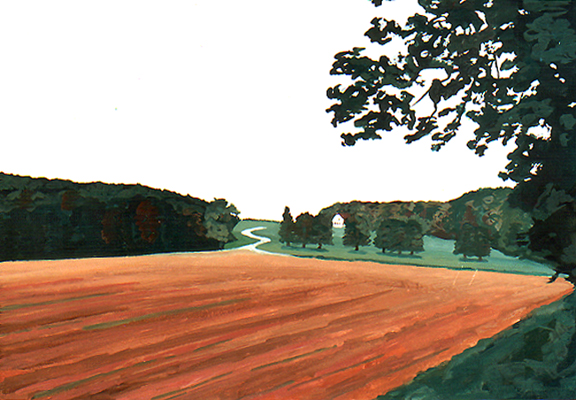 <b>Grafenberg</b><br>Gouache | 1988 | 18 x 26 cm<br><small>(Privatbesitz)