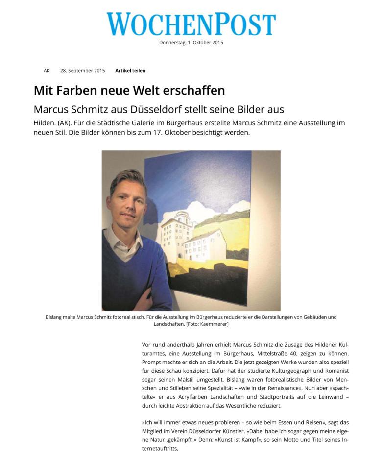 © Wochenpost, Achim Kaemmerer, 28.09.2015