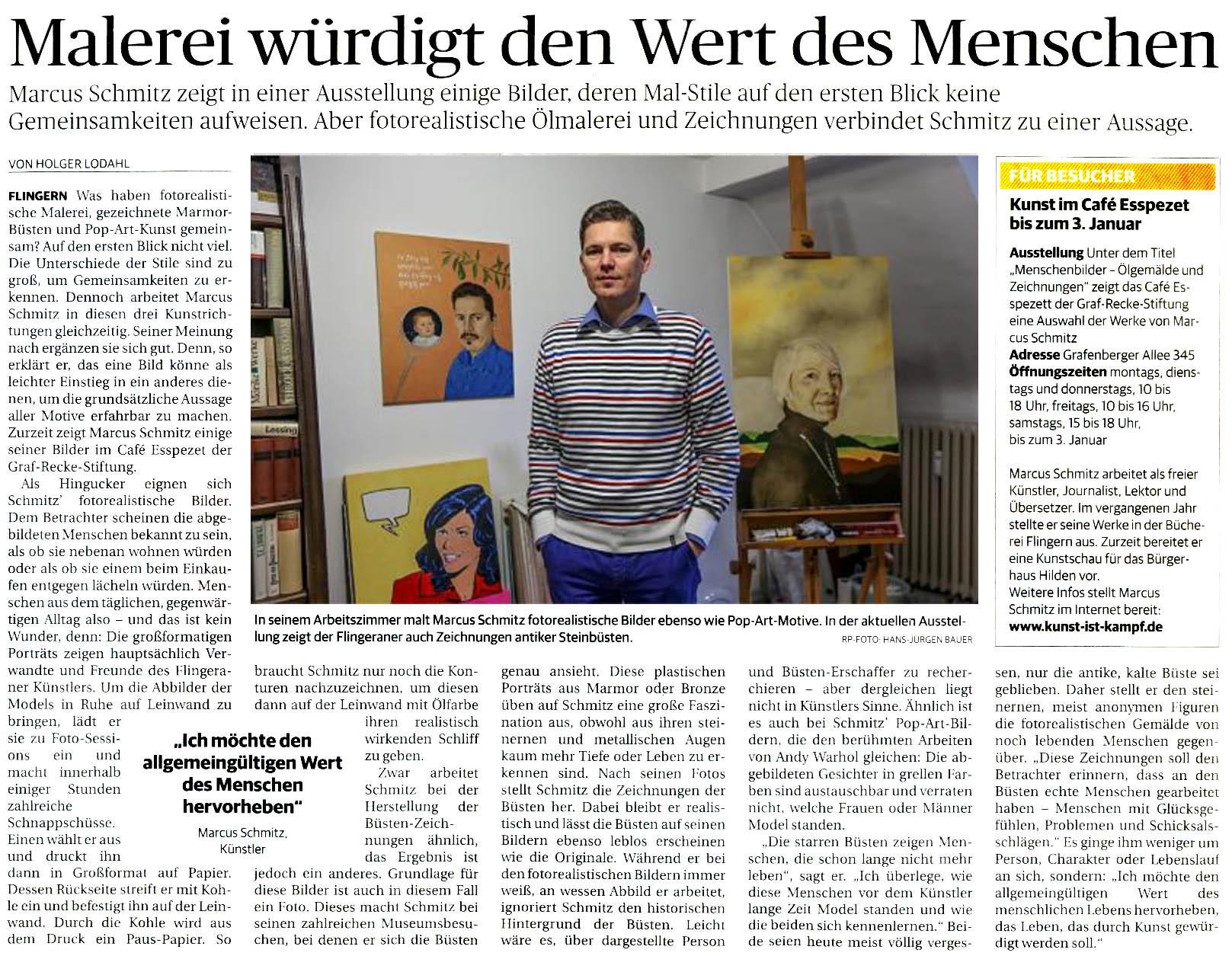 © Rheinische Post, Holger Lodahl (Text), Hans-Jürgen Bauer (Foto), 20.12.2013