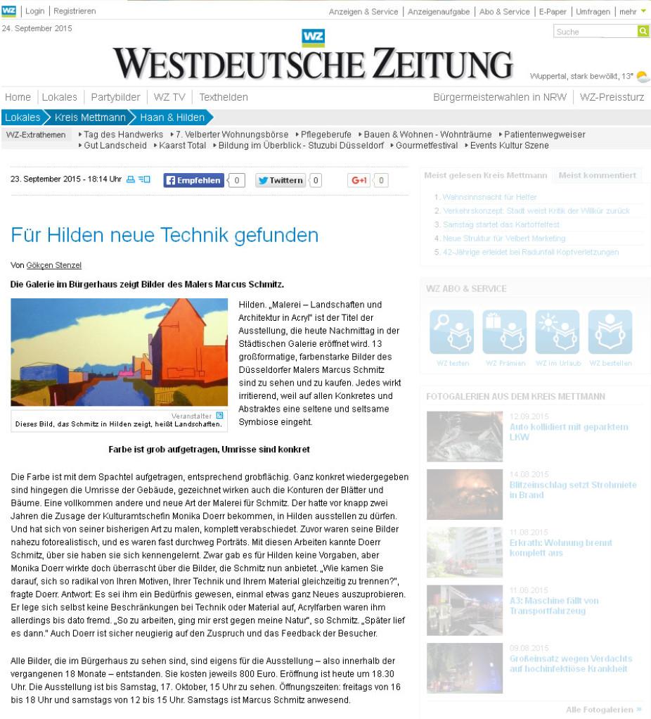 © Westdeutsche Zeitung, Gökcen Stenzel, 24.09.2015