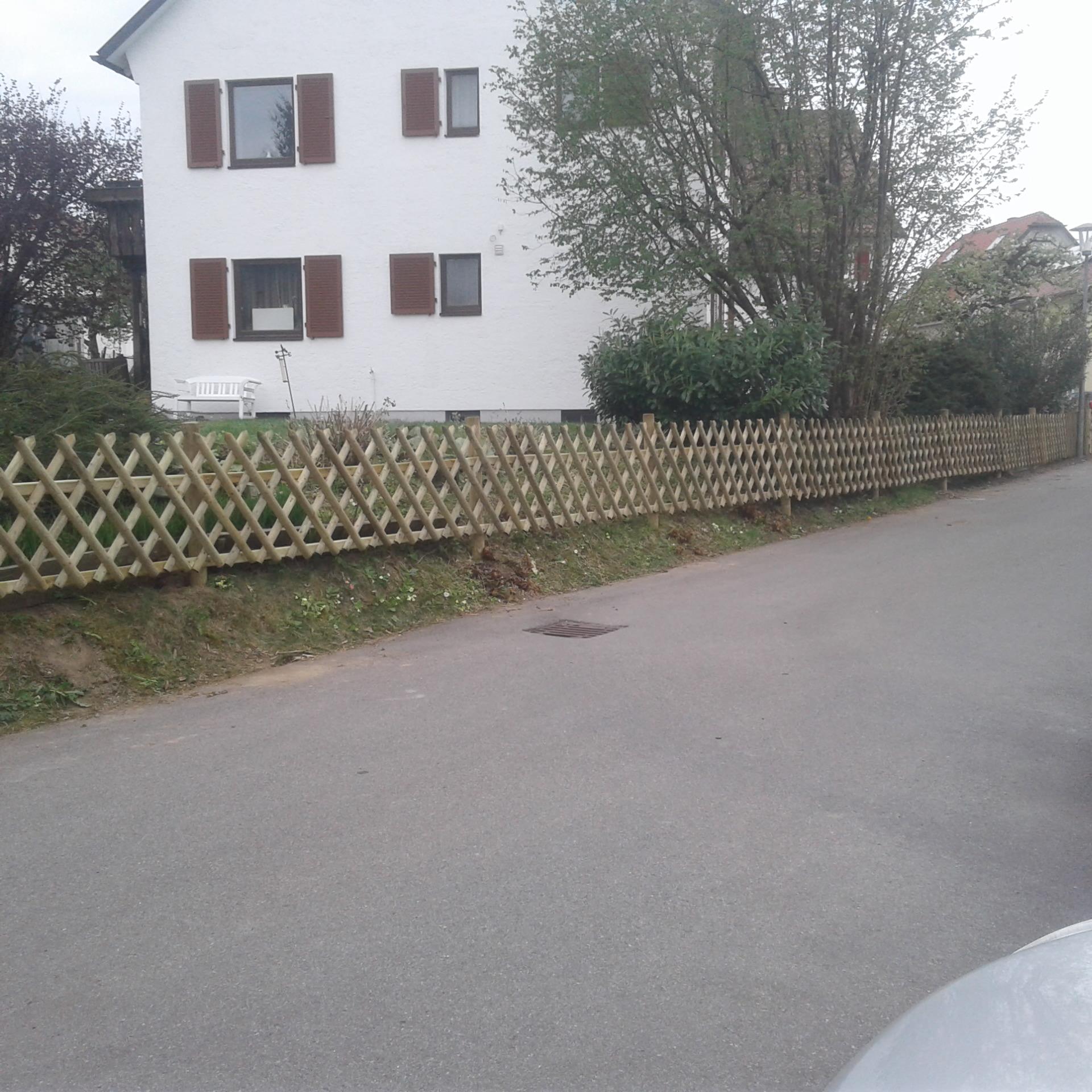 Jägerzaun in Wangen