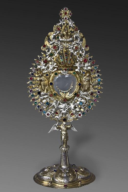 Hostienmonstranz, 1685, Hans Jskob II Wild, Silber, teilweise vergoldet, Glassteine, Salzburg, Domschatz, Inv.Nr. M7-L (c) Dommuseum Salzburg/Kral