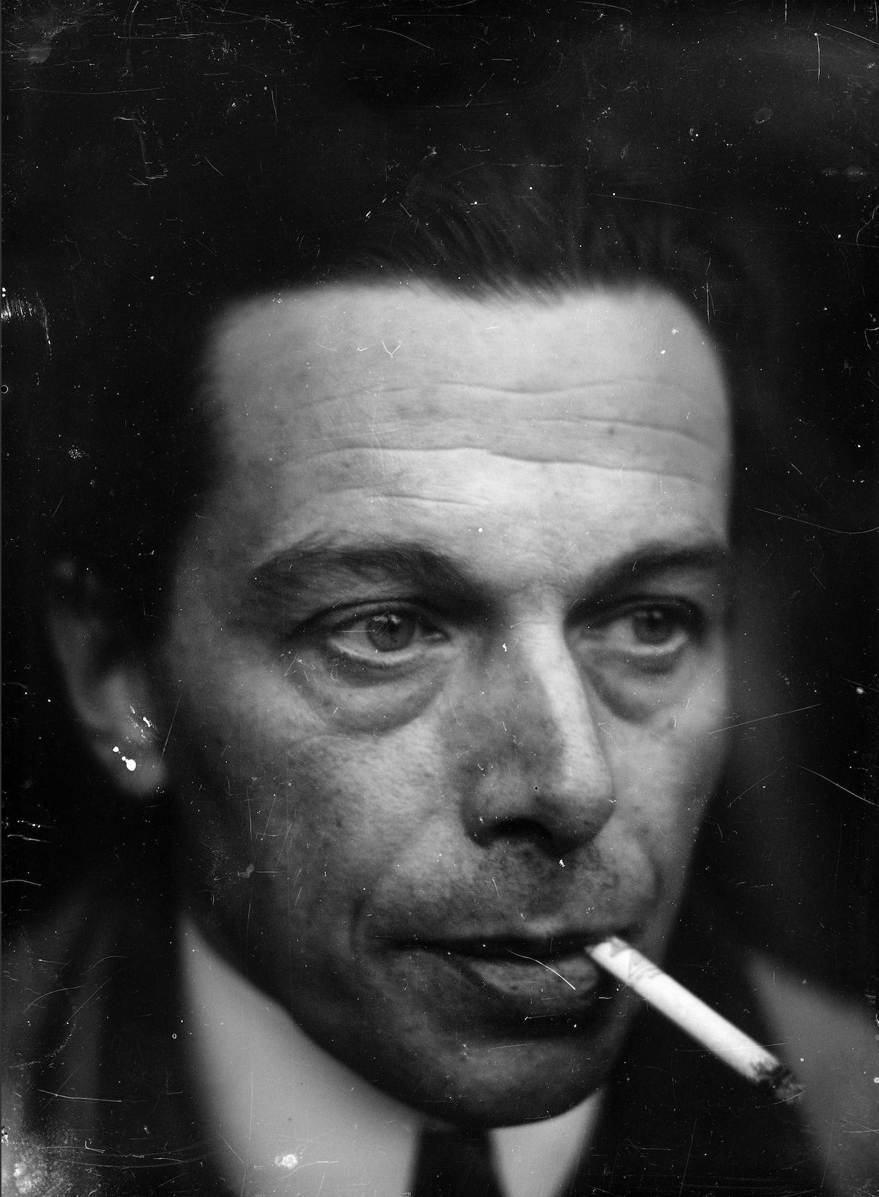 Ernst Ludwig Kirchner Selbstporträt, um 1928 Glasnegativ Kirchner Museum Davos, Schenkung Nachlass Ernst Ludwig Kirchner 1992