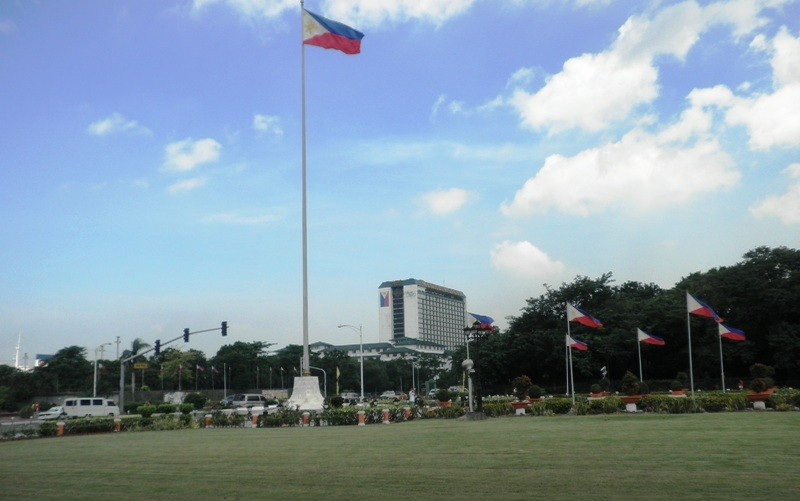 View of Manila Hotel and Roxas Boulevard from Rizal Park