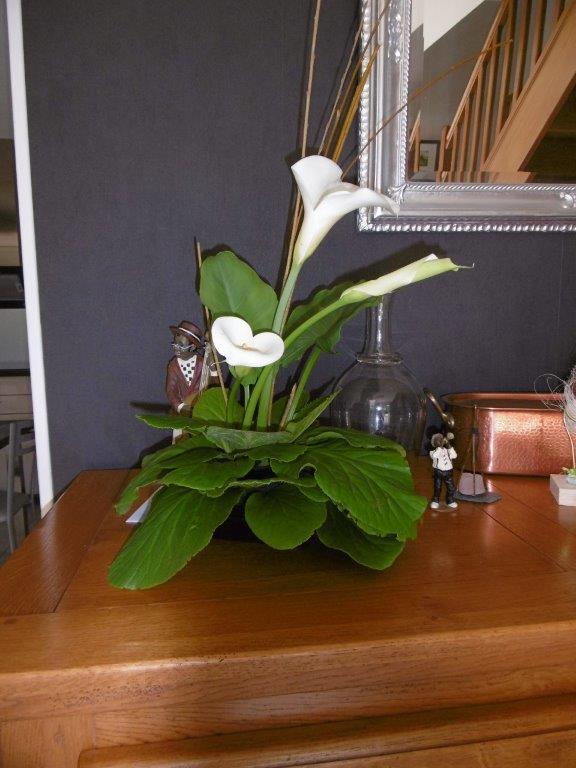 Annick Thomas : Bouquet confectionné avec les fleurs du jardin.