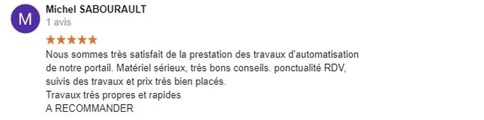 Avis C-automatique de Monsieur Michel Sabourault Saint Maixent L'école 79400