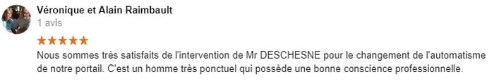 Avis C-automatique de Monsieur Alain Raimbault - 79000 Niort