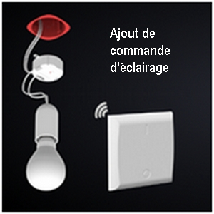 Ajout de commande d'éclairage radio-commandée, C-automatique
