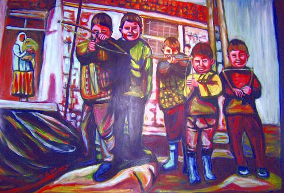 Cocuk, acrylique, 1m/1,30cm, 2007