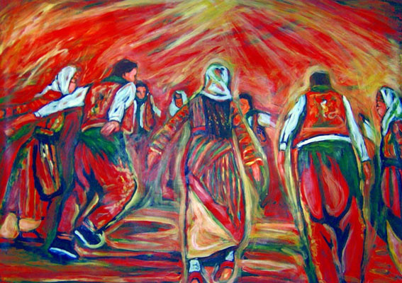 Semah, acrylique, 1m/1,30cm, 2007