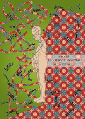 Journée mondiale de la femme / Dünya kadin günü (illustrator-photoshop)