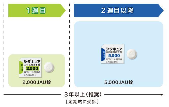 スギ花粉症免疫療法の薬:シダキュア