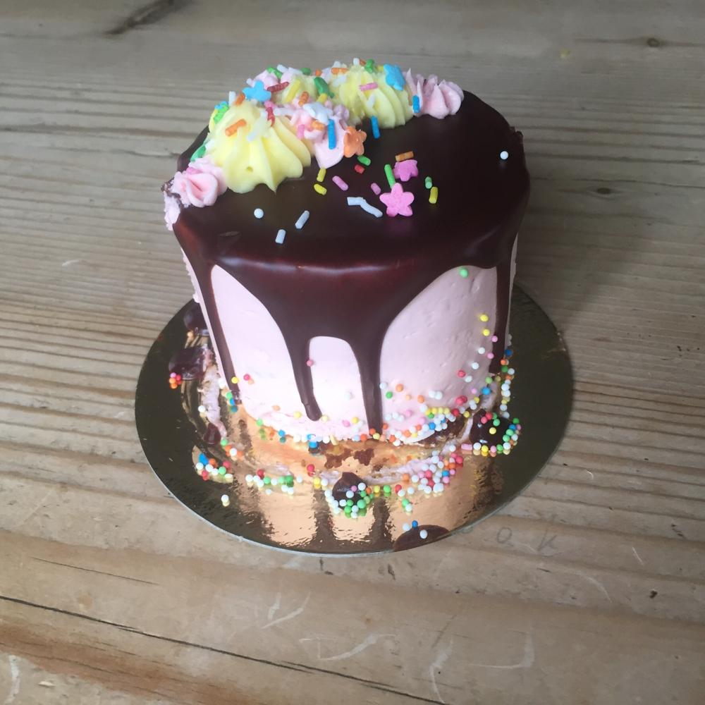 Dit taartje nam ik mee naar huis voor mijn nichtje die kwam logeren