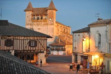 La bastide de Villeréal en lumière