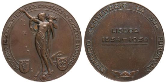 João da Silva - Medalha comemorativa do centenário da Associação De Socorros Mútuos Dos Empregados No Comércio E Indústria (1954)