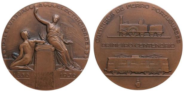 João da Silva - Medalha comemorativa do Primeiro Centenário dos Caminhos de Ferro (1956)