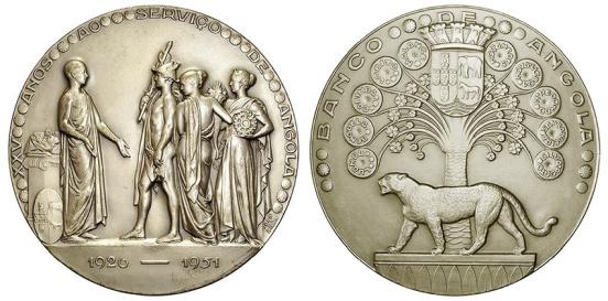 João da Silva - Medalha comemorativa do XXV aniversário da instituição do Banco e Angola (1951)