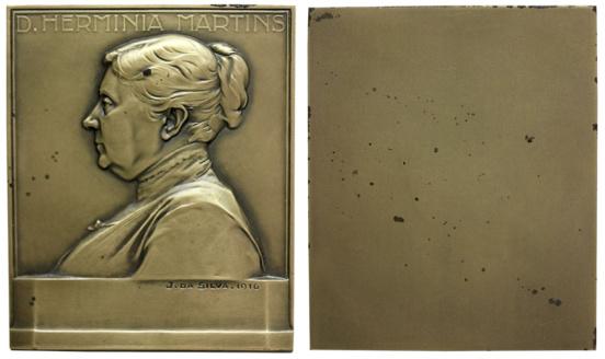 João da Silva - Medalha plaqueta dedicada a D. Herminia Martins (1916)
