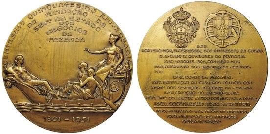João da Silva - Medalha comemorativa do centésimo quinquagésimo aniversário