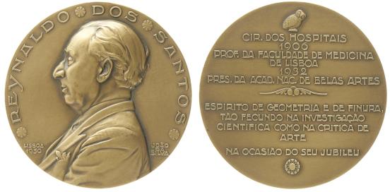 João da Silva - Medalha dedicada a Reynaldo dos Santos (1950)