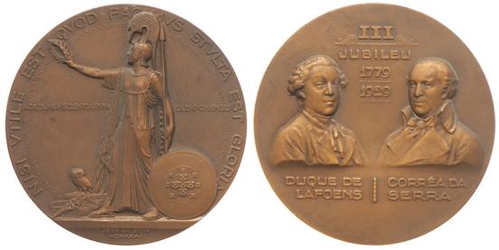 João da Silva - Medalha comemorativa do III Jubileu do Duque de Lafões e do abade Correia da Serra (1931)