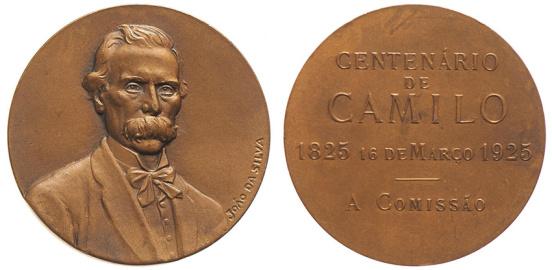 João da Silva - Medalha comemorativa do centenário de Camilo Castelo Branco (1925)
