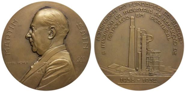 João da Silva - Medalha dedicada a Martin Sain (1952)