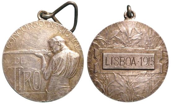 João da Silva - Medalha de mérito para o Concurso Nacional de Tiro (1915)