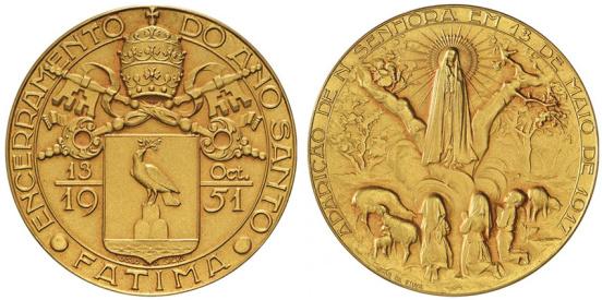João da Silva - Medalha comemorativa do encerramento do Ano Santo (1951) ouro