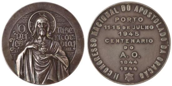 João da Silva - Medalha comemorativa do II Congresso Nacional do Apostolado da Oração (1945)