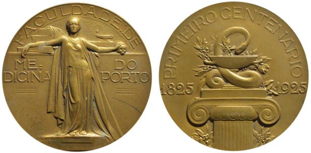 João da Silva - Medalha comemorativa do centenário da Faculdade de Medicina do Porto (19254)