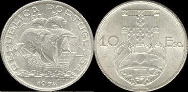 João da Silva - 10 Escudos Prata 1954