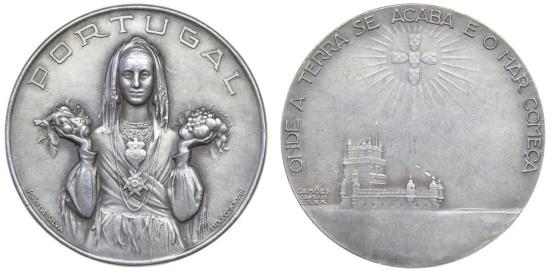 João da Silva - Medalha comemorativa da Exposição Internacional de Antuérpia (1928)