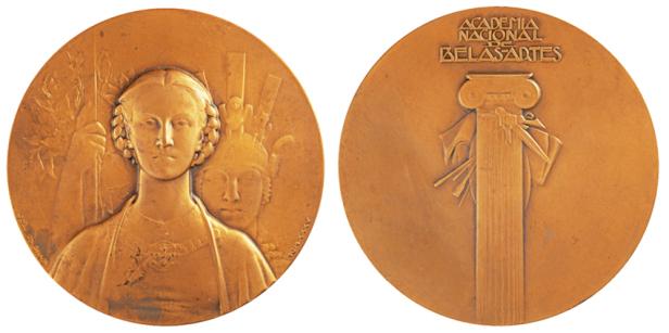 João da Silva - Medalha Insígnia da Academia Nacional de Belas-Artes (1935)