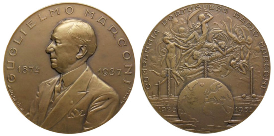João da Silva - Medalha alusiva a Guglielmo Marconi (1951)