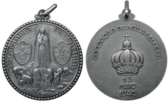 João da Silva - Medalha religiosa, alusiva à coroação de Nª Sª de Fátima (1946)