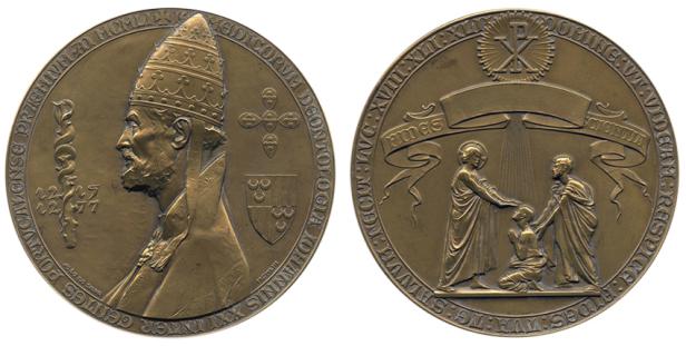 João da Silva - Medalha Prémio de Deontologia Médica, alusiva ao Papa João XXI (1953)