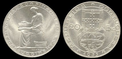 João da Silva - 20 Escudos prata 1953