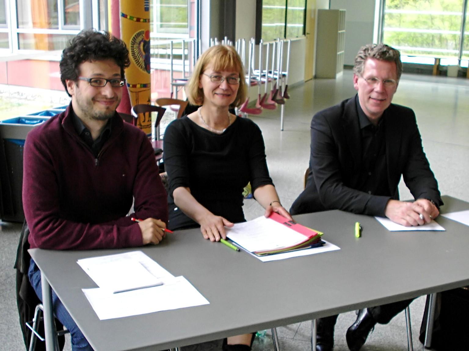 Die Jury  (von links): Matthias Leboucher, Dr. Elke Michel-Blagrave, Stefan Mohr