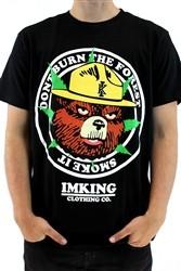 """IMKING """"Smokey"""" Mens Crew Neck T Shirt Black  Our Price: €27.99"""