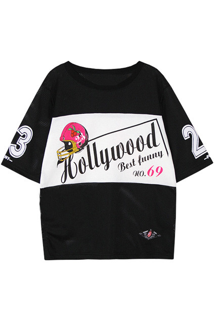 HOLLOWED HELMET HOLLYWOOD & NUMBER BLACK T-SHIRT PRICE €138.99