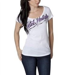 Metal Mulisha Pretty Scripty Scoop White  Our Price: €25.00