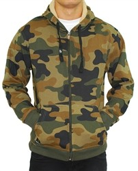 Southpole Woodland Camo Print Hoodie Green Our Price: €55.00