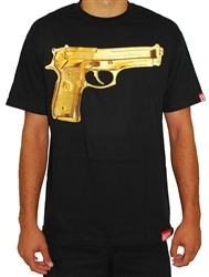 Breezy Excursion Gold Peace T Shirt Black  Our Price: €32.00
