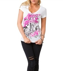 Metal Mulisha Biker Lady V Neck White  Our Price: €25.00