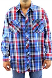 Southpole MCMXCI Button Down Shirt Blue Plaid  Our Price: €54.00